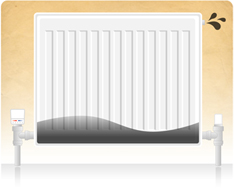 Radiators have cold spots