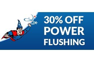 30% OFF Power Flushes throughout the Spring and Summer